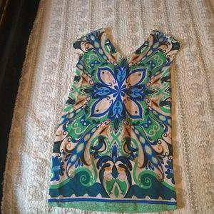 Maeve folksong floral/bird shift dress